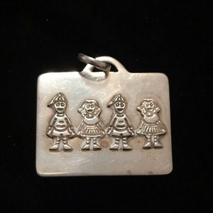 Vintage hand crafted 925 S Mother's necklace